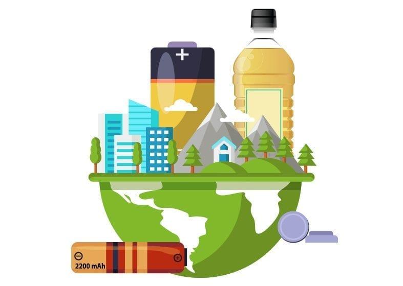 Reciclaje de pilas y aceite
