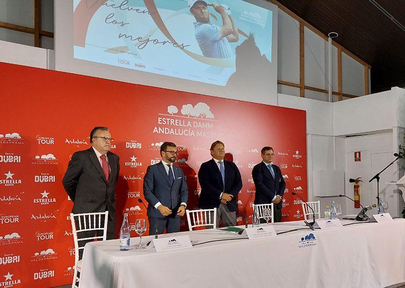 Presentación en el Real Club Valderrama del Estrella Damm N.A. Andalucía Masters